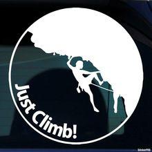 1 ST rotsklimmen 100mm grafische Vinyl sticker voor pickup bed side auto achterruit grappige decals(China (Mainland))