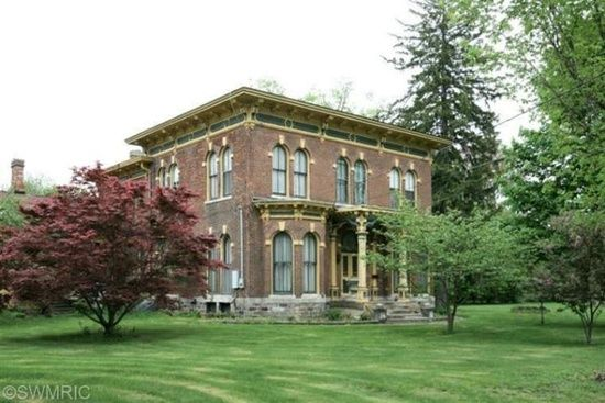 510 E Hoffman St, Three Rivers, MI 49093 140 Year Old Historical Brick Italianate resting on a 2 Acre Corner lot in Three Rivers City,
