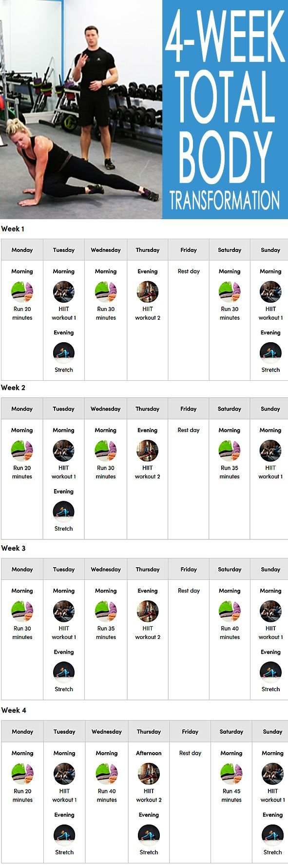 4-week no-equipment training and diet program designed to change your eating and exercise habits as well as the way you look and feel. Once you see the results, it will be easier to continue for the long term too. What seems impossible today will one day become your warm up! #fitnesschallenge #workoutplan #workoutforwomen #weightlossplan #fatburn #getfit