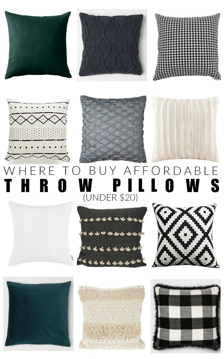 Affordable places to buy throw pillows under in frugal