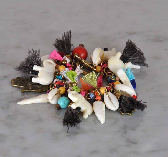 Hippie  Ethnic  Tribal  Gypsy Beaded Bracelet  Bohemian