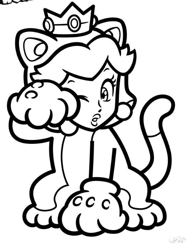 Coloriage Mario 3d World Cute Coloring Pages Coloring Pages Mario Art