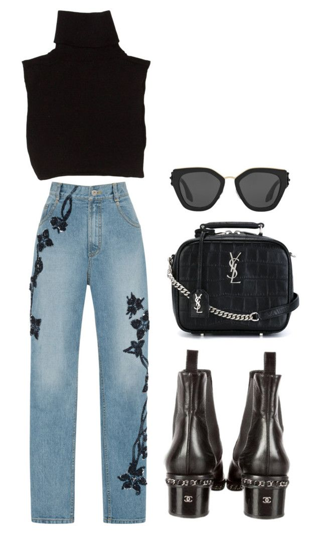 """""""Sin título #3608"""" by camilae97 ❤ liked on Polyvore featuring Marc Jacobs, Chanel, Jonathan Simkhai, Yves Saint Laurent and Prada"""