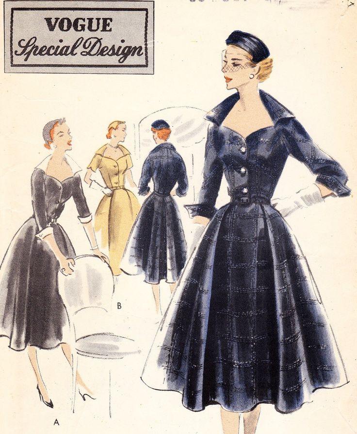Vintage 1950s Vogue special design dress pattern - Vogue S-4239. $26.99, via Etsy.