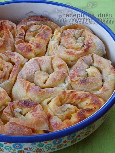 Uklupčana pita sa sirom/ Cheese Pie swirls @Dragana Pušica