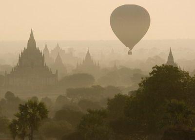Angkor Wat Hot air balloon ride.  Spectacular shot!!