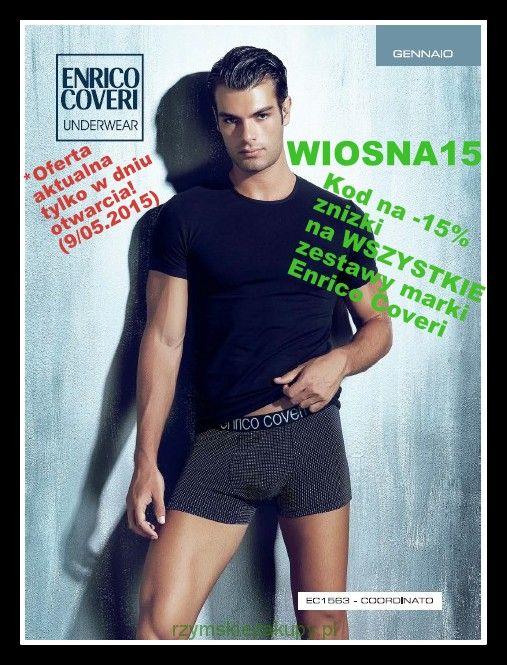 Moda męska - promocja na komplety Enrico Coveri w dniu otwarcia!