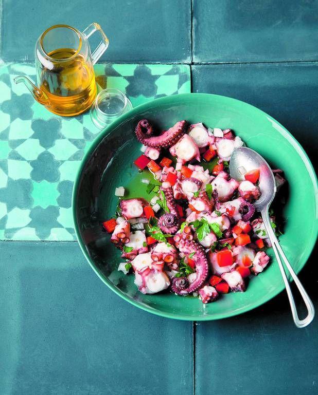 Salade de poulpe au poivron pour 4 personnes - Recettes Elle à Table