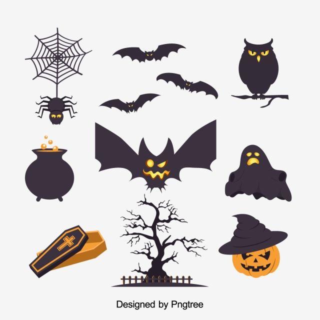 Simple Cartoon Halloween Design Pattern Fashion Simplicity