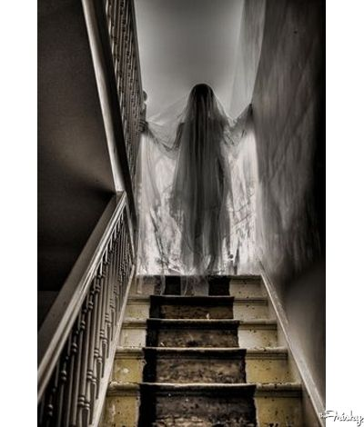 gauze draped mannequin in the stairwell a great creepy halloween decoration and a - Very Scary Halloween Decorations