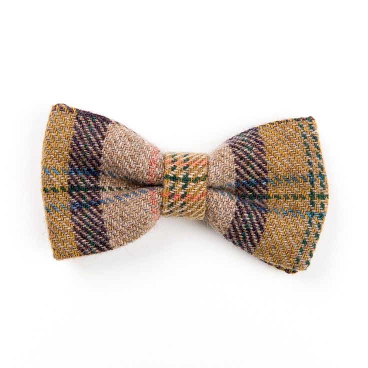 """Middling Autumn"" Donegal #tweed #bowtie."