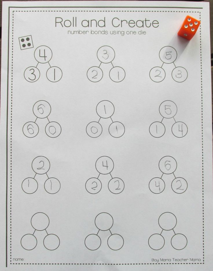 Boy Mama Teacher Mama Roll and Create Number Bonds (4)