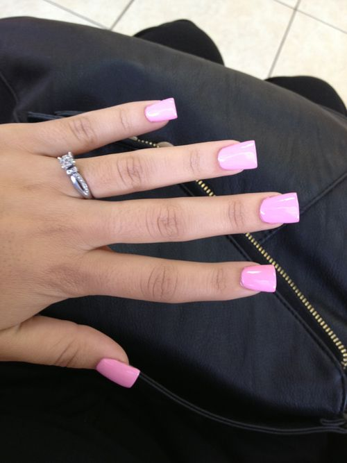 Luv PiNK short nails ♡