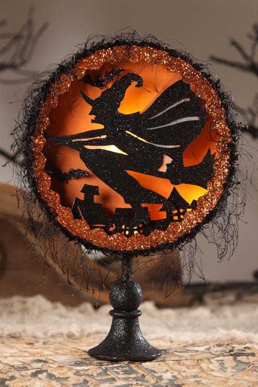 bethany lowe witchs flight shadowbox vintage halloween decorating retro theme party ideas
