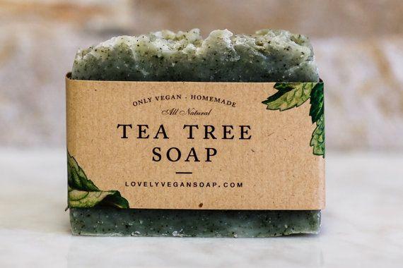 Tea Tree Soap - acne soap,vegan soap,oil skin soap,acne soap,homemade soap,Tea tree oil soap,all natural soap,handmade soap