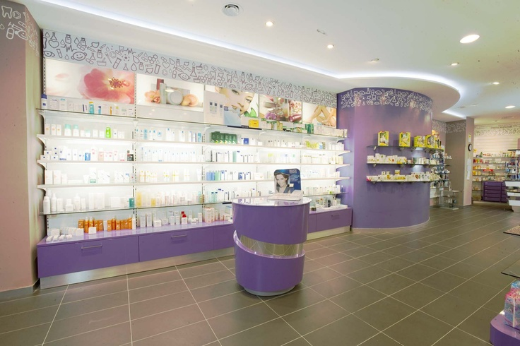 Farmacia a roma realizzata da ph design retail display for Boursin agencement
