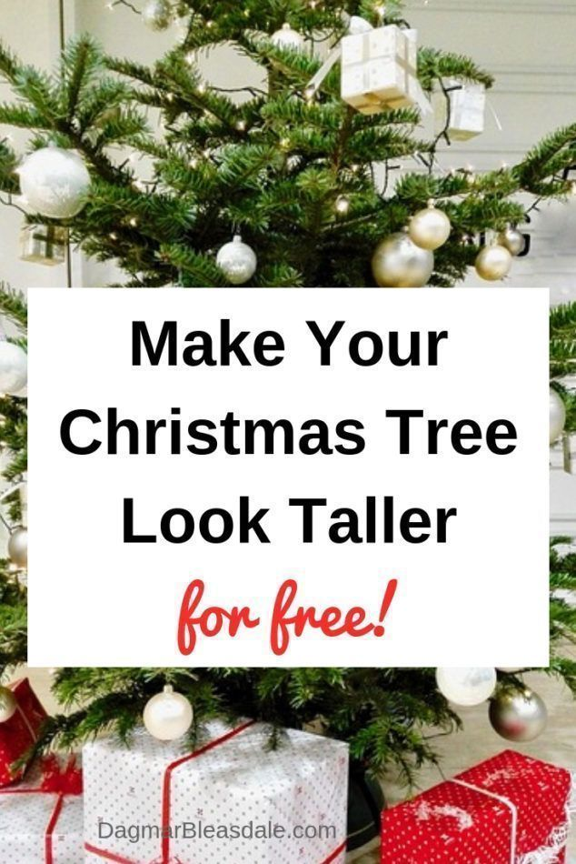 How to Make a Christmas Tree Look Fuller and Taller – on a Budget – Do It Yourself Today
