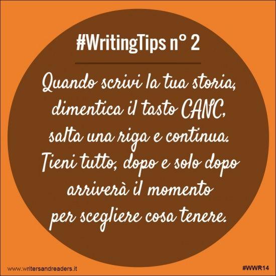 Quando scrivi la tua storia, dimentica il tasto CANC,salta una riga e continua.  Tieni tutto, dopo e solo dopo arriverà il momento per scegliere cosa tenere. #writingtips