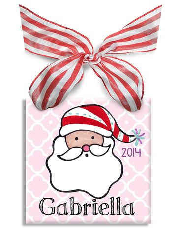 172 best personalized baby gifts images on pinterest colors santa girls ornament personalized baby giftspersonalised negle Image collections