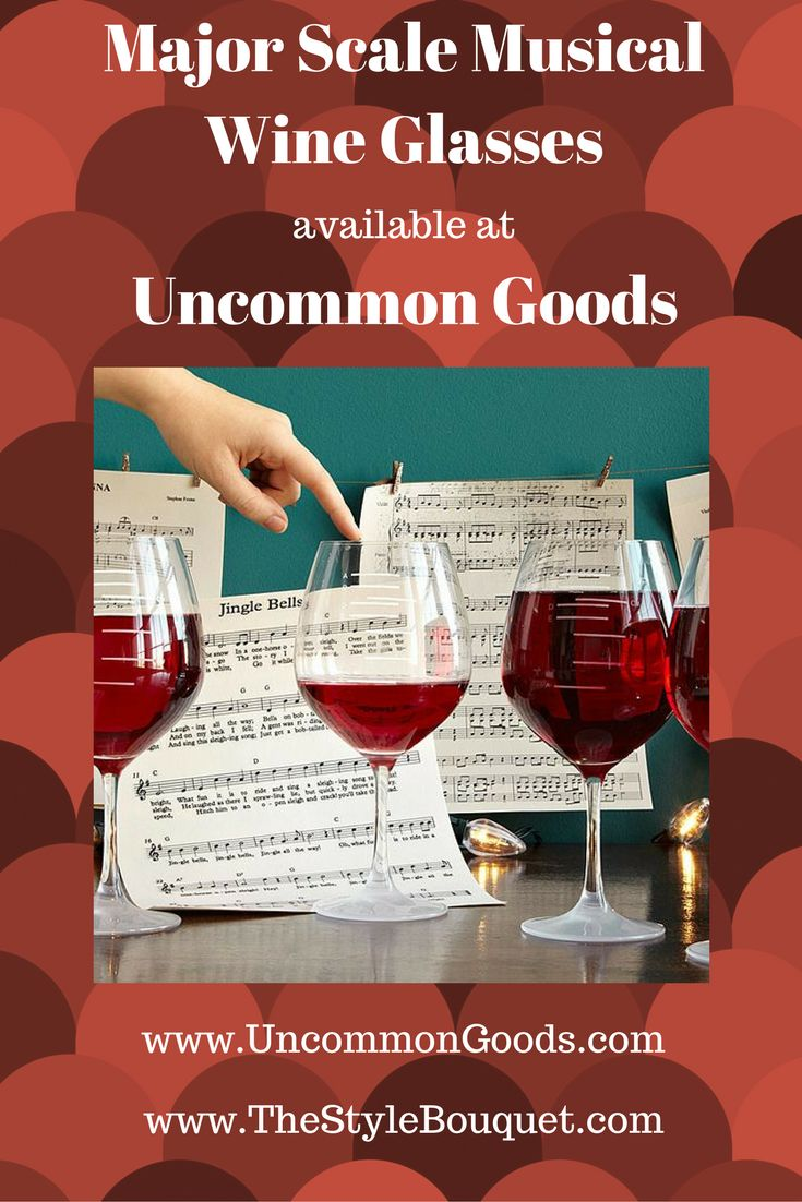 Major Scale Musical Wine Glasses available at UncommonGoods.com! Check out this great item!