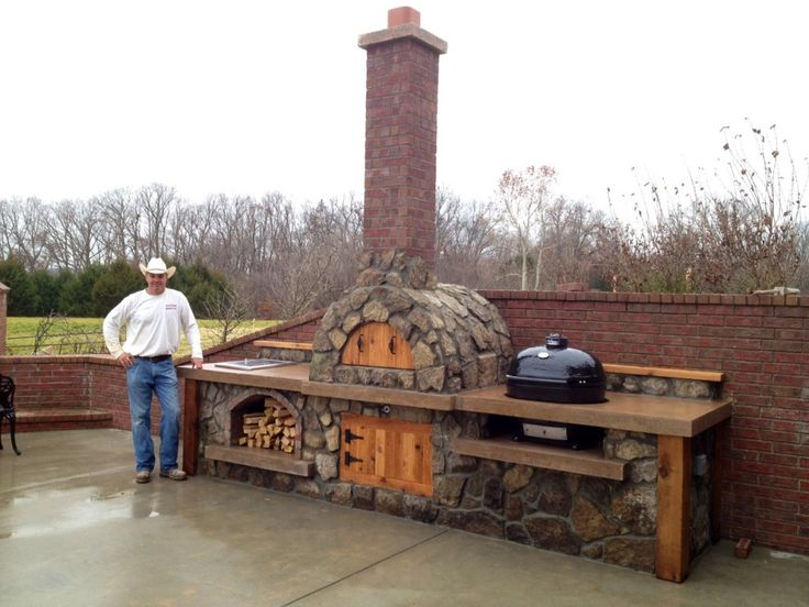 pizza ovens outdoor plans | Pizza Oven With Primo XL
