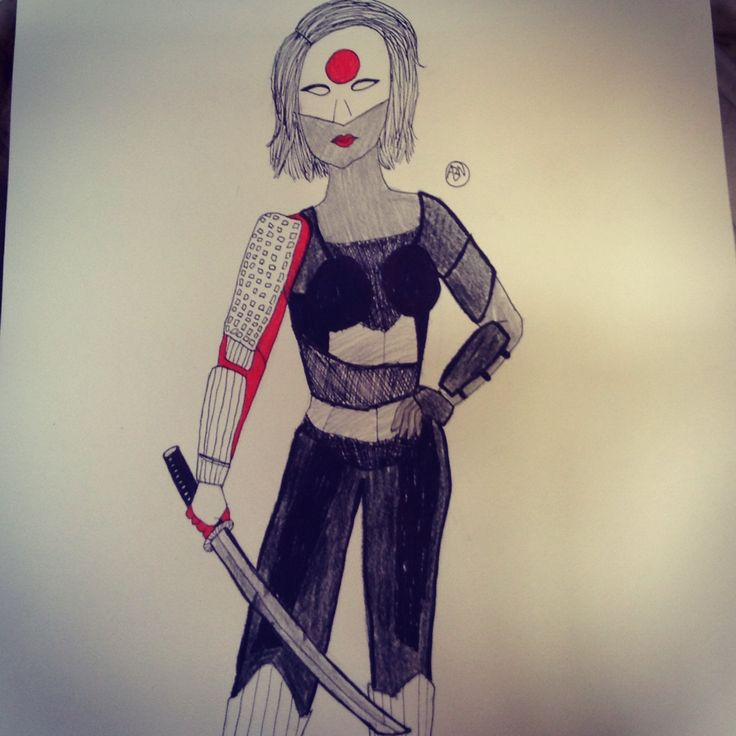 Katana from birds of prey drawing :) I took a little bit of an artistic licence with the armour but I think it looks cool