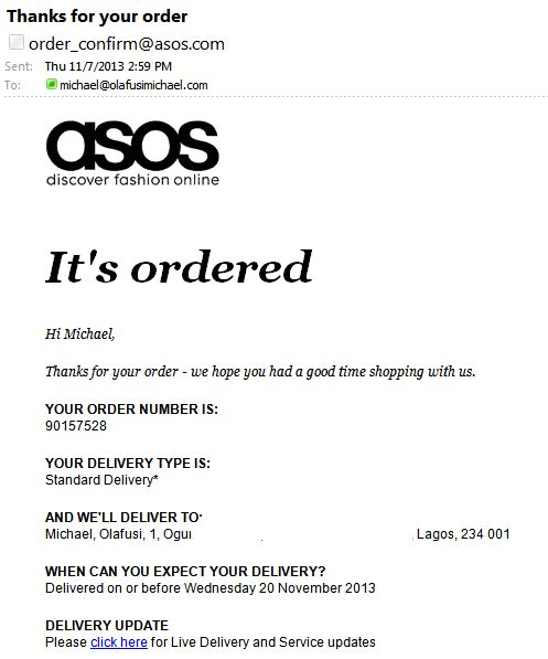 15 best images about Order confirmation Inspiration on ...