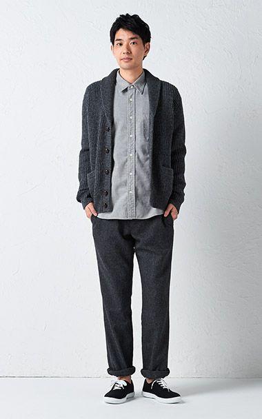 衣料品 2015 秋冬|コーディネートカタログ 紳士|無印良品ネットストア