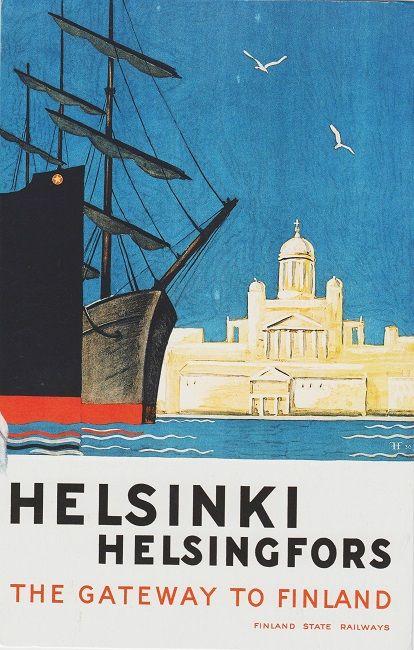 https://flic.kr/p/fJk2wu | Helsinki travel poster from minkero Finland