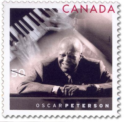 2005 Canada Post - Oscar Peterson: The life and achievements of Canadian composer and musician Oscar Peterson are venerated on the occasion of his 80th birthday.