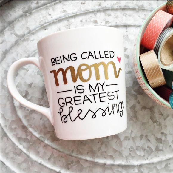 DAILY SALE Mothers Day Mug Each mug is unique because it is handcrafted with love and dedication. I spend a lot of my time trying to make your mug perfect so shipping may take some time. It is not dishwasher nor microwave safe, so HANDWASH only. No trades. Offers will be considered. I will try to ship as soon as mug is finished!! If you want a specific color for the writing or mug height tell me in the comments!!❤️ Tatem's Mugs Other