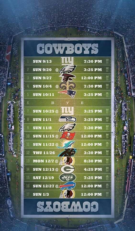Image Result For Dallas Cowboys Schedule
