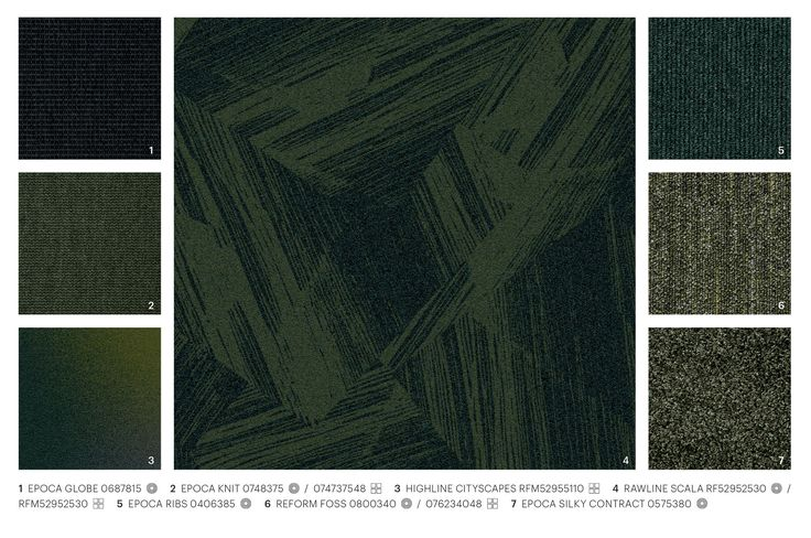 Rawline Scala green hues mixed and matched with other ege carpet designs #mixandmatch #green