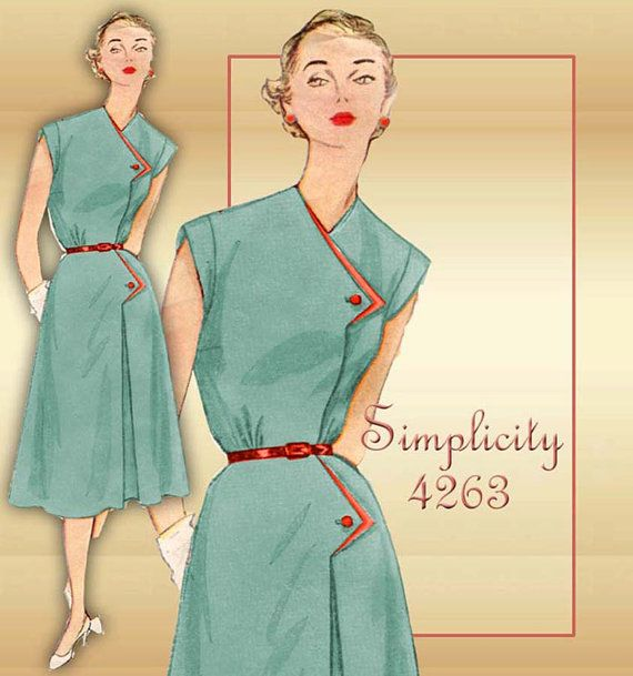 1950s Sewing Pattern Simplicity 4263 Fit and by FloradoraPresents, $20.00