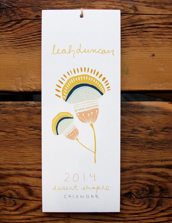 2014 12Month Calendar by leahduncan on Etsy, $32.00