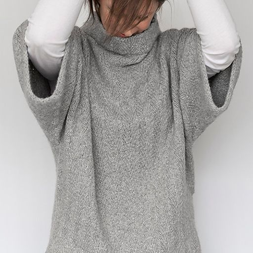 This is a printed pattern that requires shipping.  This oversized pullover is the ultimate in chic comfort. A subtle herringbone...