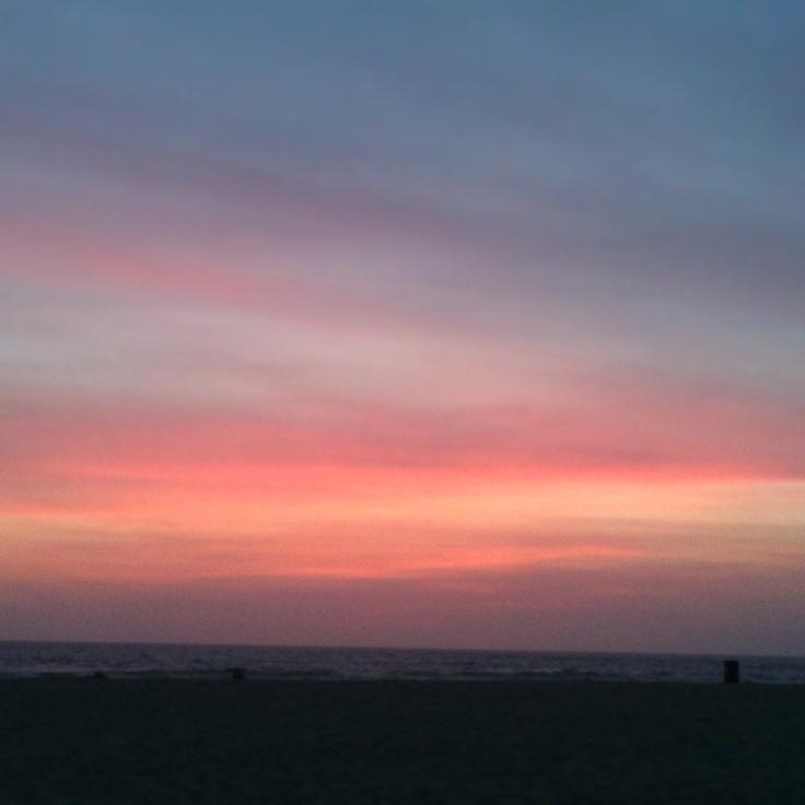 Il tramonto sull'Oceano Pacifico - Venice Beach