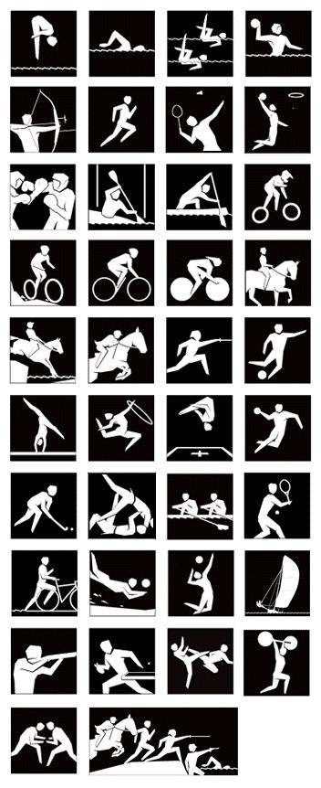 London 2012 silhouette pictograms by SomeOne