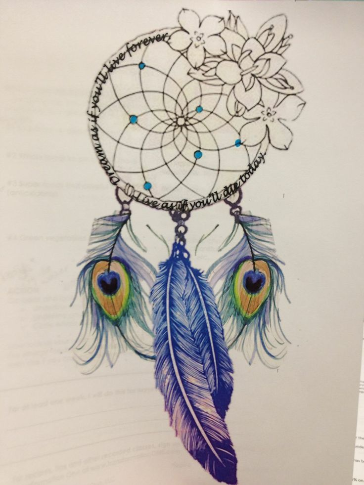 Like The Dream Catcher Part But Def No Peacock Feathers Idk About The Flowers   Tattoo Ideas Top Picks