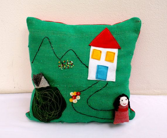 red riding hood  handwoven pillow toy