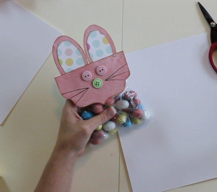 how to make easter bunny bag pelt