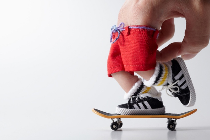 "master-piece ""Little Sk8ers"" Finger Skateboards - Japanese luggage label, master-piece, has added a collection of novelty finger boards to their extensive range of backpacks, duffels, totes, and leather goods."