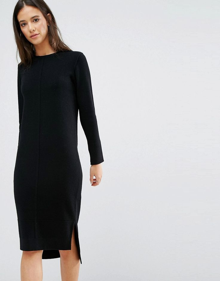Low cut black dress asos promo