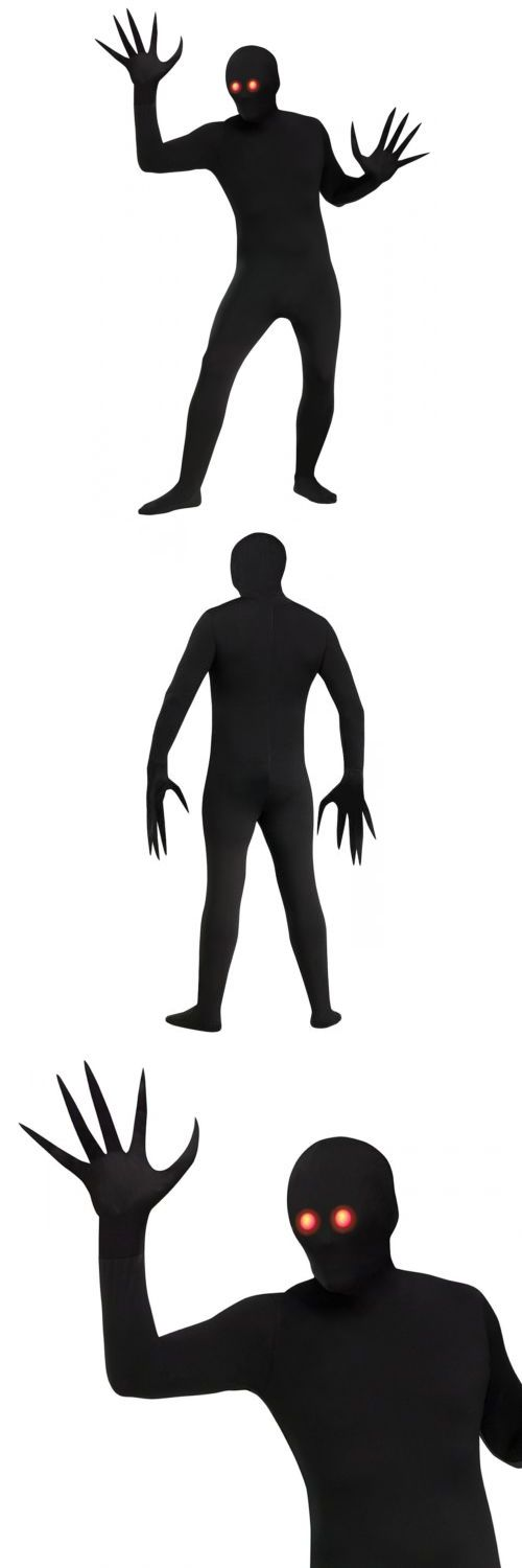 Men Costumes: Shadow Costume Adult Scary Halloween Fancy Dress -> BUY IT NOW ONLY: $34.39 on eBay!