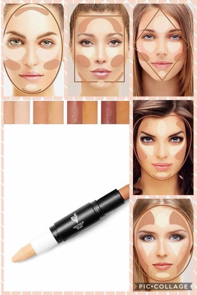 Using the Younique highlight / contour stick for your face shape