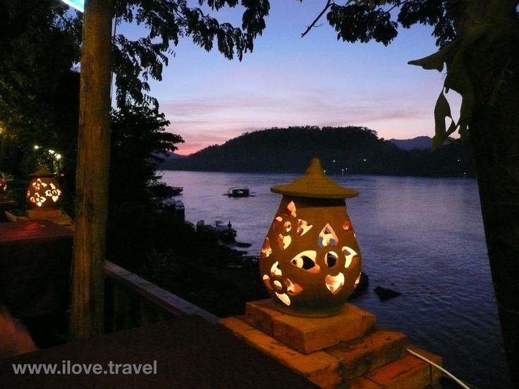 Sunset... Luang Prabang, Laos... destination tips from our Foreign Correspondents - www.ilove.travel