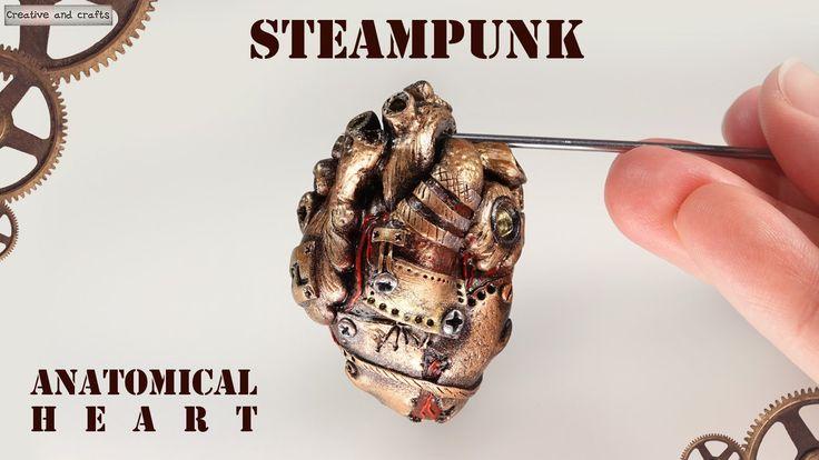 Полимерная глина - Анатомическое сердце Стимпанк (Steampunk anatomical h...