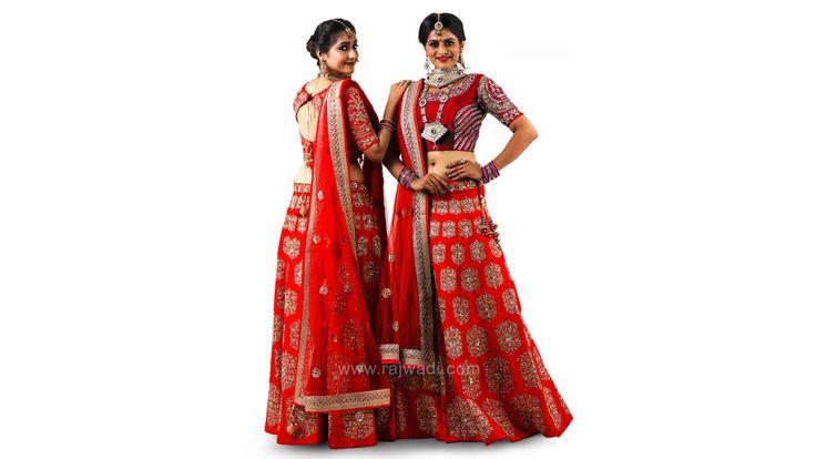 Bridal Red Raw Silk Choli Suit #rajwadi #cholisuit #readycholi #lehengas #embroidered #FeelRoyal #bridal #colorful