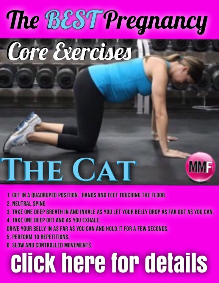 If you don't want to end up with a belly after baby, do pregnancy exercises for the core and abs during your pregnancy.  These are all safe exercises you can try.  Click here for the workout details.