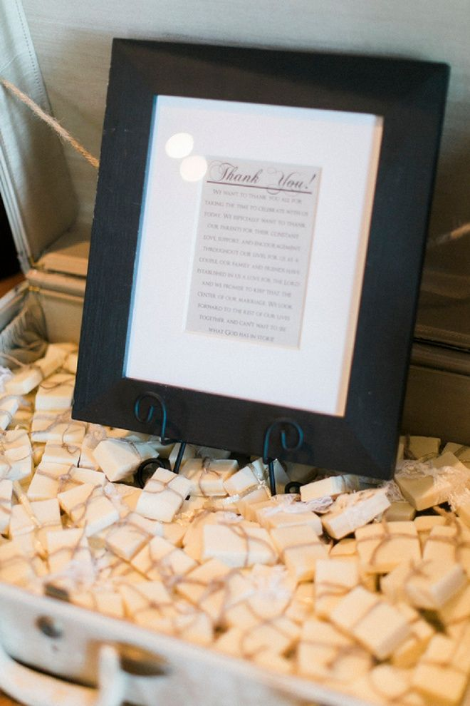 We're loving these DIY soap wedding favors!